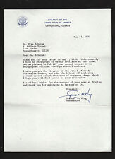 Spencer M. King SIGNED letter by US Ambassador to Guyana * Army WWII Puerto Rico