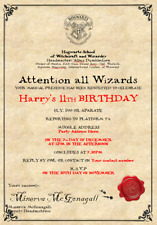 Personalised Harry Potter Birthday Party Invitations - Express Shipping
