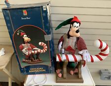 Vtg 1996 Mickey Unlimited GOOFY Animated MOTIONETTE Santas Best DISNEY Christmas