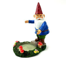 Yankee Candle Gnome Jar Candle Holder Garden Mushrooms Flowers