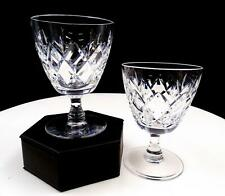 "WEBB CORBETT SIGNED CRYSTAL CLIFTON 2 PIECE 3 3/4"" WINE GLASSES"