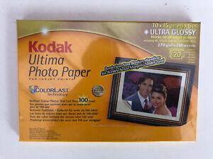 "Kodak Photo Paper Ultima Ultra Glossy 10x15cm (4x6"") - 270gsm 20 sheets 8981185"
