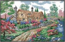 A Country Cabin 8. cottage. 14CT Counted Cross Stitch Kit. Craft Brand New.