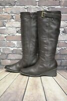 Womens Caravelle Brown Leather Zip Up Mid Heel Knee High Boots UK 6 D EUR 39