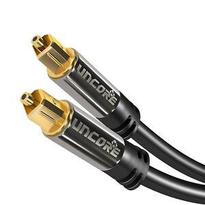 3m Toslink Audio Kabel Optisches Audiokabel Metallstecker LWL SPDIF Digital