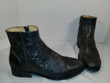 dea8114087ae NEW FARYLROBIN MORRIS DISTRESSED BLACK LEATHER ANKLE BOOTS US 9