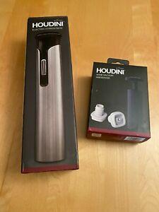 Houdini H1-04104T Electric Corkscrew - Black/Stainless Steel + Wine Vacuum Prese