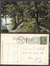 1909 Wisconsin Postcard - Appleton - Lovers' Retreat on the Fox