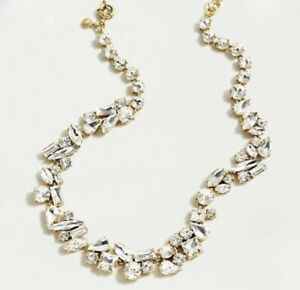 J.CREW MIXED CRYSTAL STATEMENT NECKLACE CRYSTAL AK838 $138