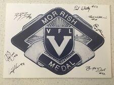 1999 VFL MORRISH MEDAL DINNER PROGRAM SIGNED NORTHERN KNIGHTS AFL PLAYERS