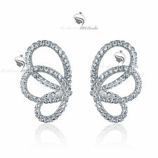 18k white gold filled made with SWAROVSKI crystal butterfly stud earrings