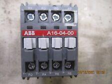 Abb A16 04 00 84 Contactor 1sbl181101r8400 30a 120v Coil A16 04 00 4p New
