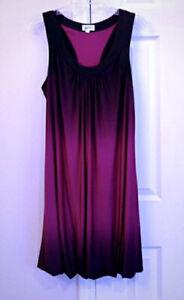 Oleg Cassini Purple Ombré Bubble Hem Cocktail Party Dress size 18