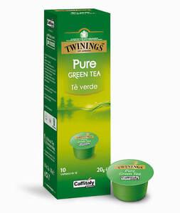 100 CAPSULE CAFFITALY TWININGS PURE GREEN TEA - TE' VERDE