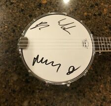 * MUMFORD AND SONS * signed  banjo * MARCUS, BEN, TED & WINSTON * PROOF * 2