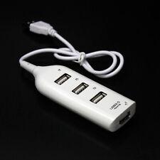 White 4 Port USB 2.0 Multi HUB Splitter Expansion Desktop PC Laptop Adapter
