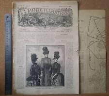 1888 La Mode Illustree, Fashion Journal with Pattern, Vintage Publication