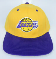 LOS ANGELES LAKERS NBA VTG STYLE FLAT BILL SNAPBACK 2-TONE ADIDAS CAP HAT NEW!