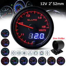 "2"" 52mm Digital & Pointer 10 Color Led Volt Meter Voltmeter Voltage Gauge 12v"