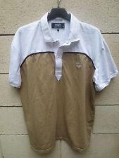 Polo SERGE BLANCO Quinze 15 FRENCH FLAIR marron blanc manches courtes XL