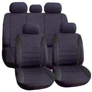 BLACK Car Cloth Seat Cover Full Washable For Ford Focus Fusion Galaxy Ikon S-Max