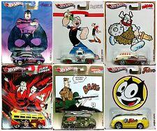 Hot Wheels 1:64 Pop Culture Assortment C Case Cartoon 2013 6 Pcs Diecast Car