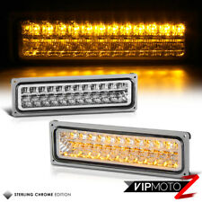 94-98 Chevy GMC C/K 1500 2500 3500 Pair Clear Amber LED Bumper Signal Light Lamp