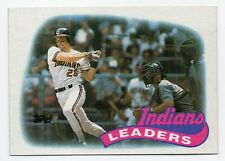 1989 Topps Cleveland Indians Team Set with Traded