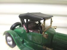 MATCHBOX LESNEY MOY YESTERYEAR Y6 1913 GREEN CADILLAC Purple Seat DkRed Grill MB