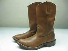 Vintage MADE IN USA BROWN RED WING FARM WORK CHORE FIELD HUNTING BOOTS SIZE 7.5D