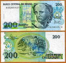 Brazil, 200 cruzeiros, ND (1990), P-229, UNC