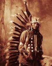 SIOUX INDIAN CHIEF LITTLE HORSE VINTAGE PHOTO NATIVE AMERICAN OLD WEST #21366