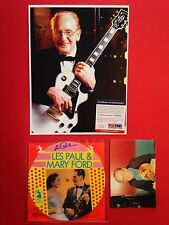 """SIGNED Les Paul & Mary Ford Picture 7"""" Record LP & Photo w/ famous White Gibson!"""