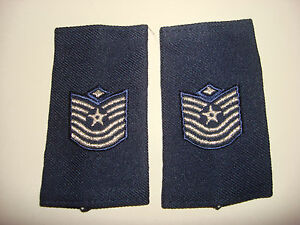 Pair Of US Air Force MASTER SERGEANT With Diamond Small Epaulets