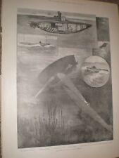 The Submarine Boat in naval warfare 1901 print ref AY