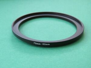72-82 72mm-82mm Stepping Step Up Male-Female Filter Ring Adapter 72mm-82mm