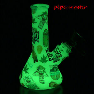 Hookah Smoking Shisha Bong Glass Bowl 5'' Glow In The Dark Silicone Water Pipe