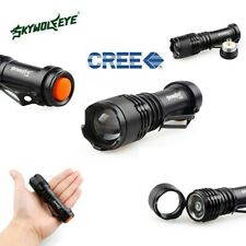 Sky Wolf Eye 5000LM CREE Q5 3 Modes ZOOMABLE LED Flashlight Torch Super Bright B
