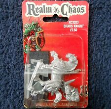 1988 Chaos Knight 2 Games Workshop Warhammer Army Realm of Warrior Cavalry MIB