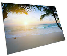 BEACH PARADISE WALL ART LARGE A1 POSTER 33 X 23 INCH