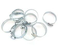 """Set of 10 - 1.25"""" - 2.50"""" Universal Pod Filter Hose Clamps - Silver"""