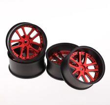SPEEDLINE LX 2 Tone RC Car 1/10 Wheels Red+Black 10 Spoke Offset 10mm 52x26mm
