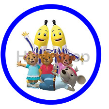 Bananas In Pyjamas Edible Birthday Cake Icing Topper Decoration Round Images