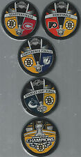 Boston Bruins Stanley Cup Champions Road to Victory 5-Souvenir Hockey Pucks