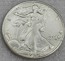 1942-S WALKING LIBERTY SILVER HALF DOLLAR AU+ Free Shipping With Five Items XBOX