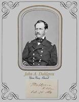 Civil War Rear Admiral John Lorimer Worden Portrait /& Autograph