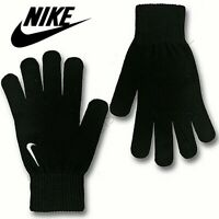 **NEW** Nike Mens Black Gloves L/XL Knitted Sports running Gym Winter Soft Warm