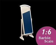 1:6 Doll standing tilting floor mirror. Barbie furniture,blythe furniture,12inch