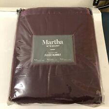 Martha Stewart Collection Soft Fleece Blanket - King size Red NWT
