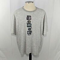 Vintage Umbro Soccer Size XXL 2XL Gray Striped Graphic T-Shirt